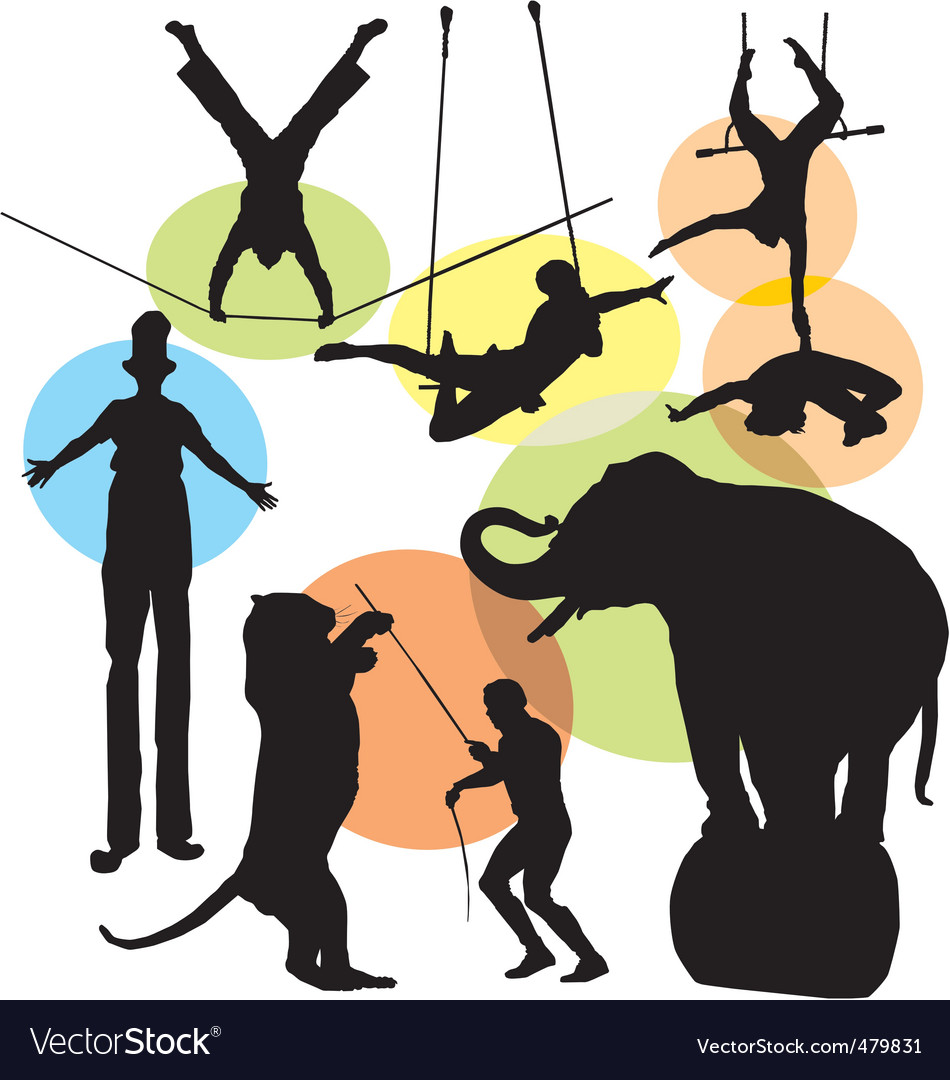 Circus silhouettes vector | Price: 1 Credit (USD $1)
