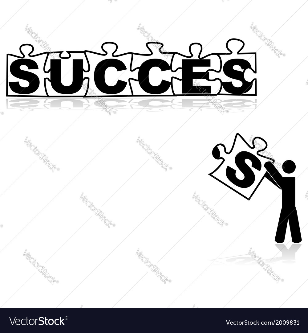 Missing piece for success vector | Price: 1 Credit (USD $1)