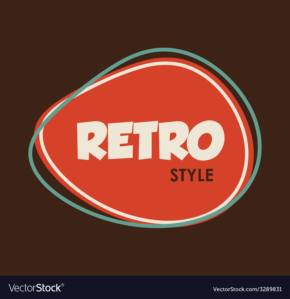 Retro style design vector | Price: 1 Credit (USD $1)