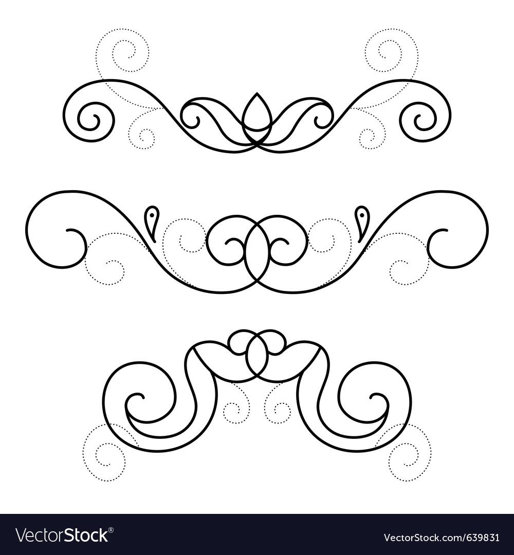 Set of decorative ornament vector | Price: 1 Credit (USD $1)