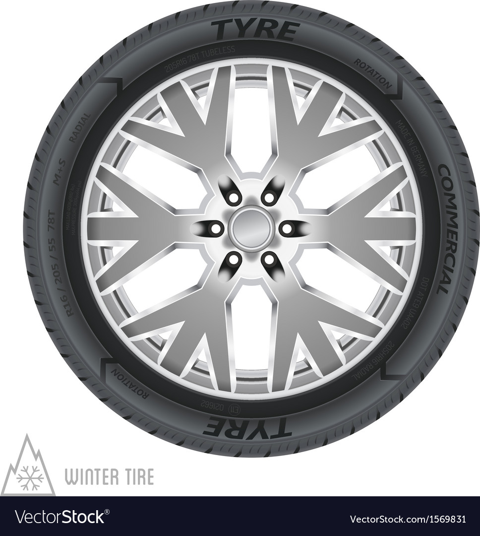 Winter tire abstract vector | Price: 1 Credit (USD $1)