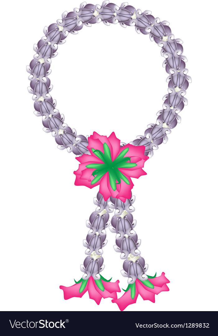 A fresh purple calotropis gigantea flower garland vector   Price: 1 Credit (USD $1)