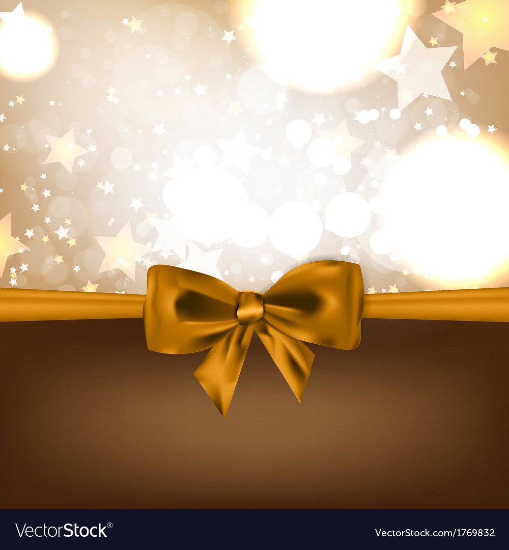 Abstract christmas background with bow vector | Price: 1 Credit (USD $1)