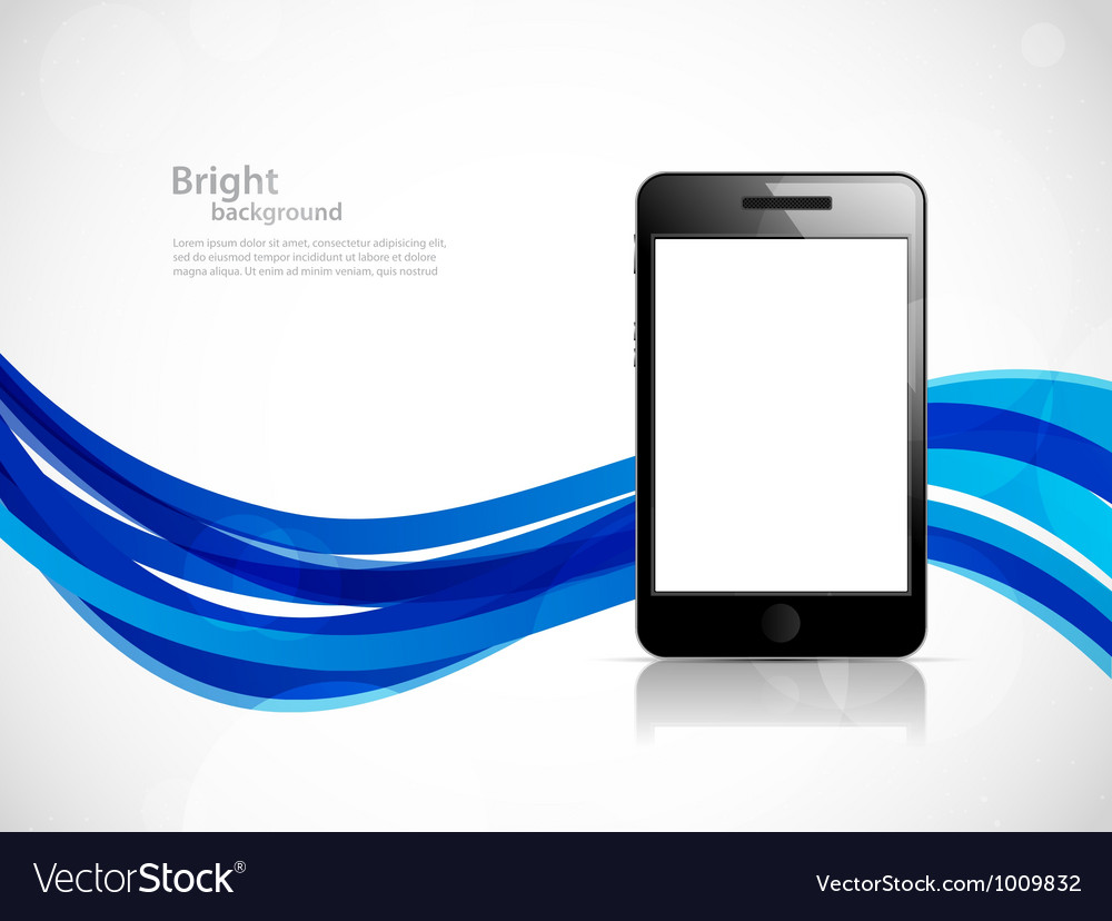 Background with phone vector | Price: 1 Credit (USD $1)