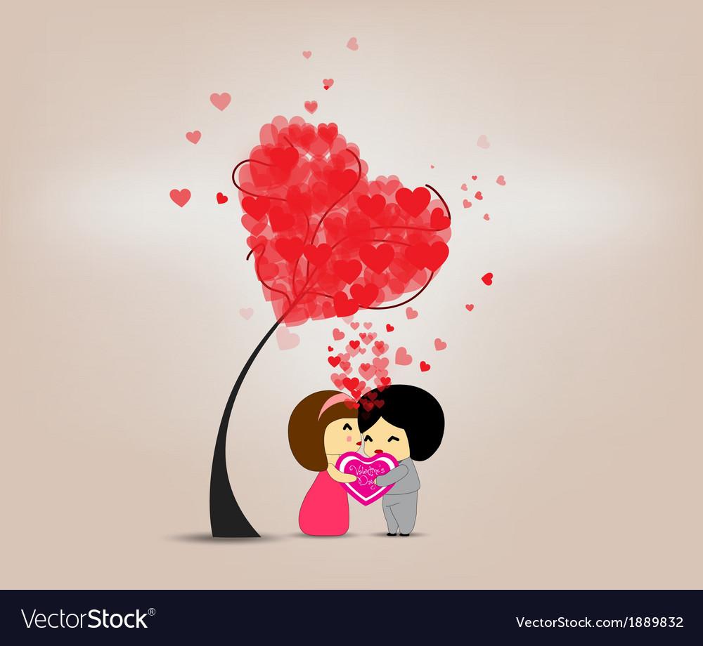 Be happy valentines day vector | Price: 1 Credit (USD $1)