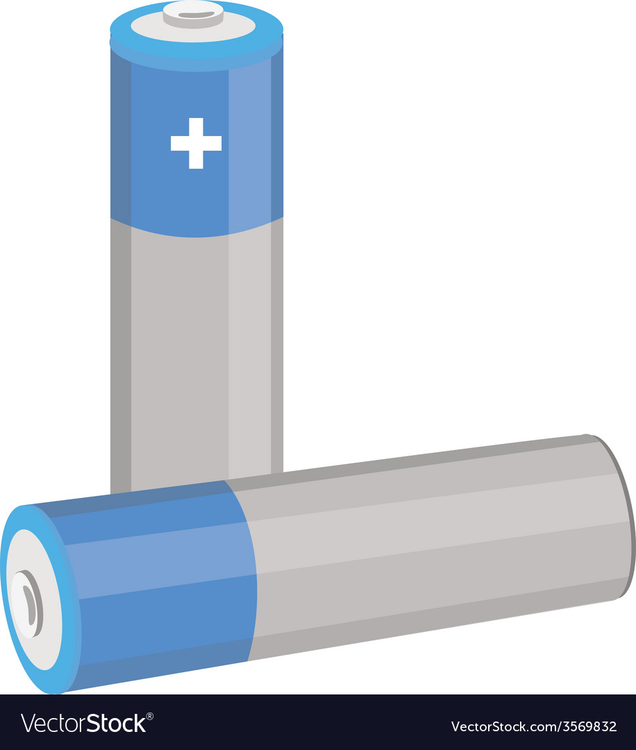Blue batteries vector | Price: 1 Credit (USD $1)