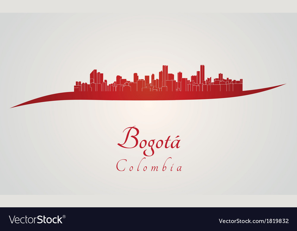 Bogota skyline in red vector | Price: 1 Credit (USD $1)