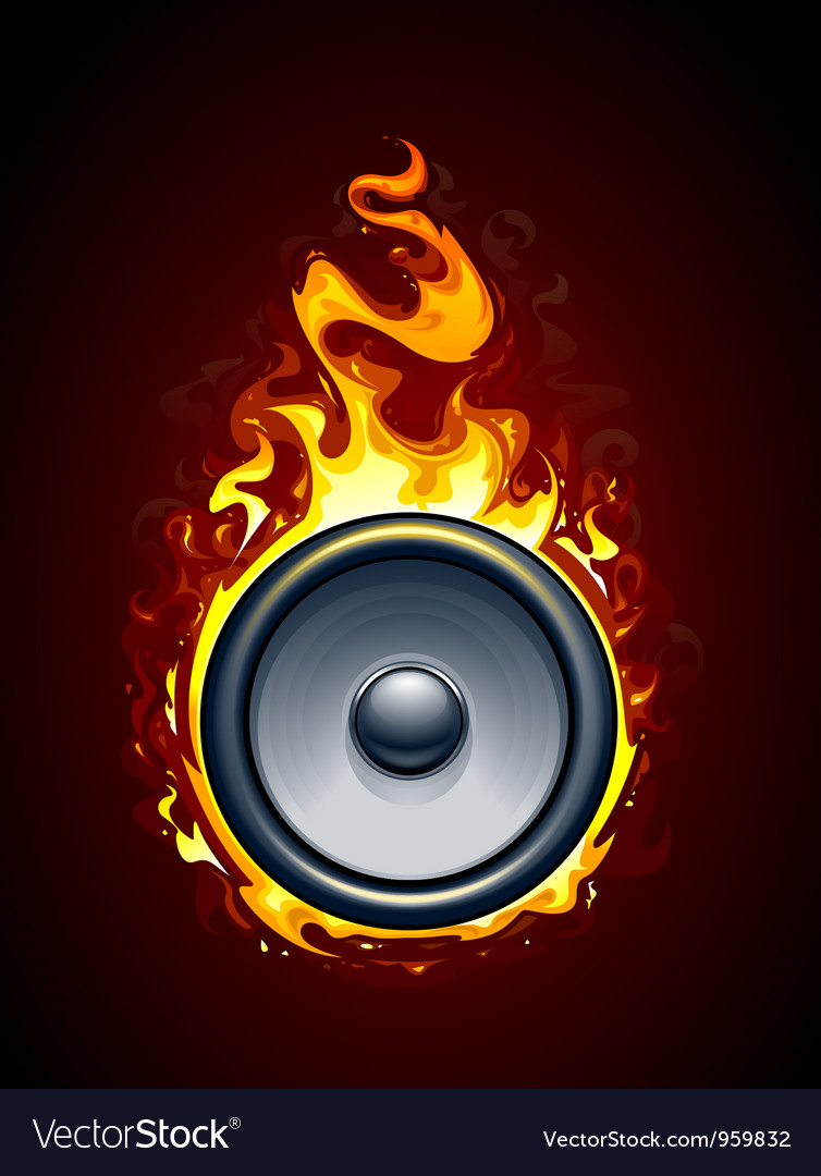 Burning speaker vector | Price: 3 Credit (USD $3)