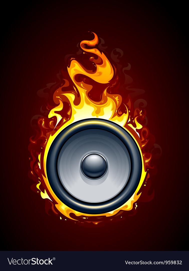 Burning speaker vector | Price: 3 Credit (USD $3)