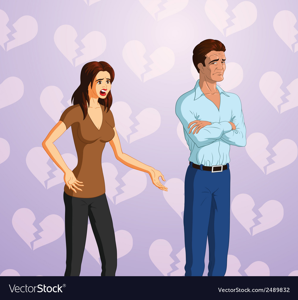Couple fight vector | Price: 1 Credit (USD $1)
