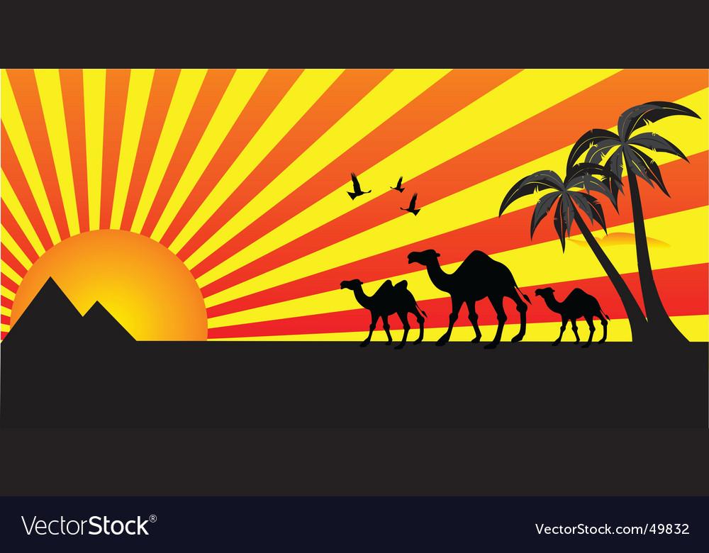 Egypt travel vector | Price: 1 Credit (USD $1)