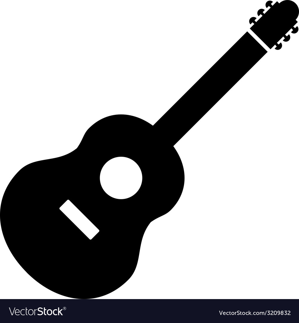 Guitar sign icon vector | Price: 1 Credit (USD $1)