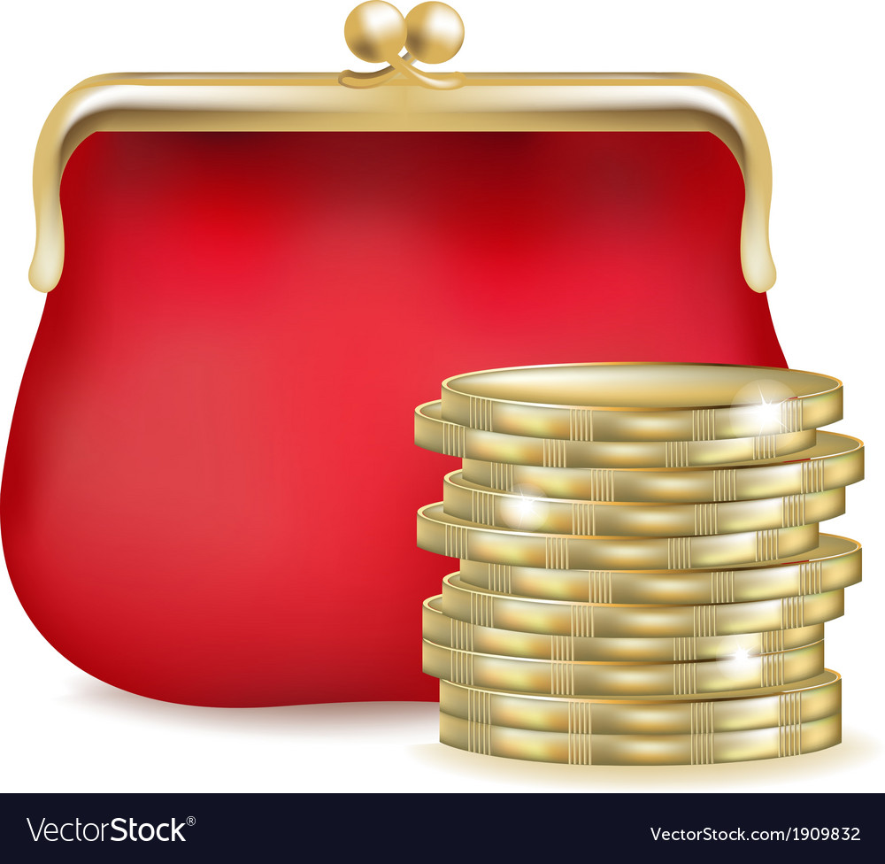 Red purse vector | Price: 1 Credit (USD $1)