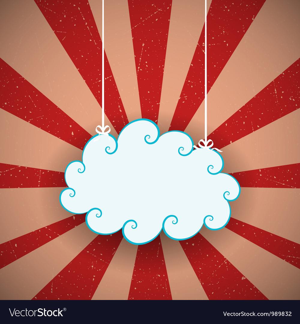 Retro cloud vector | Price: 1 Credit (USD $1)