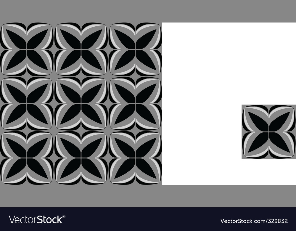 Squared tile floral vector | Price: 1 Credit (USD $1)