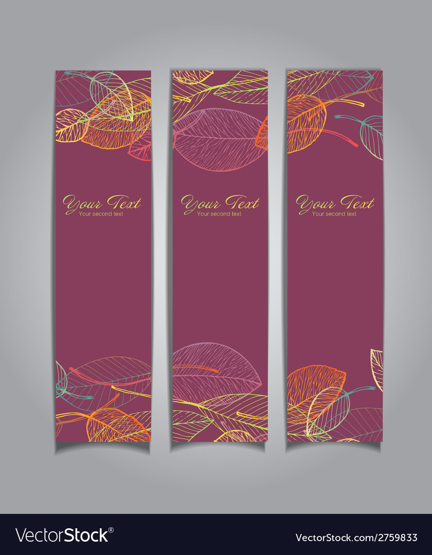 Banners with autumn leaves vector | Price: 1 Credit (USD $1)
