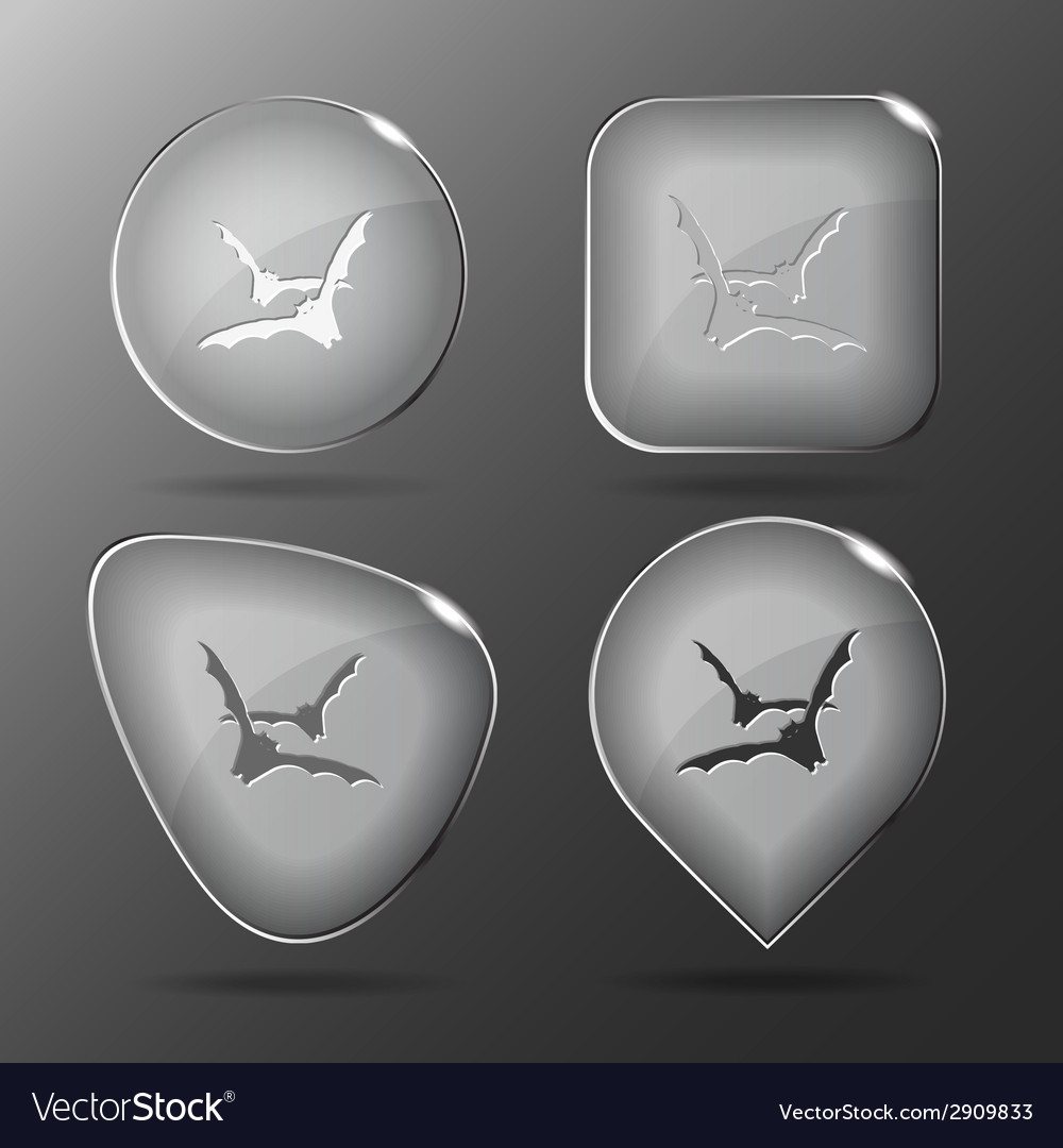 Bats glass buttons vector | Price: 1 Credit (USD $1)