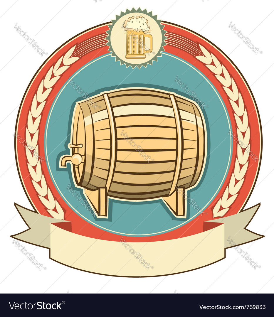 Beer barrel label vector | Price: 1 Credit (USD $1)