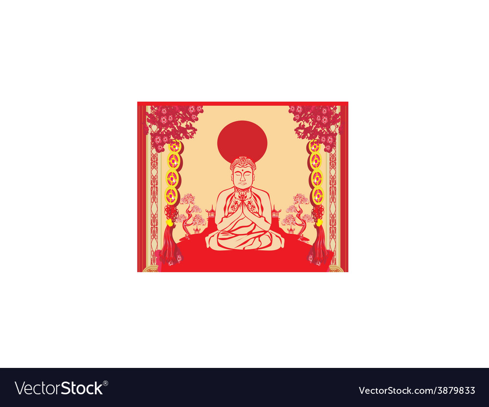 Buddha - abstract background beautiful ornament vector | Price: 1 Credit (USD $1)