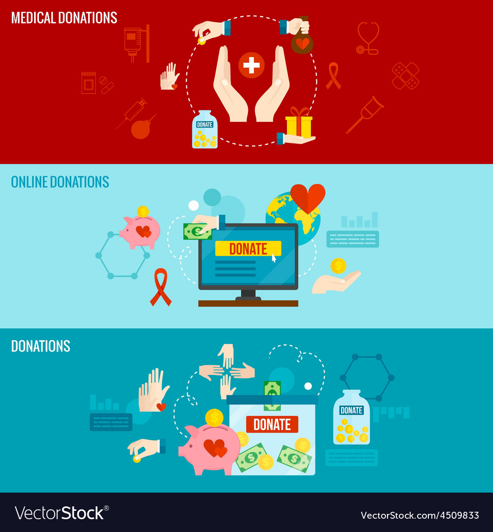 Charity banner set vector   Price: 1 Credit (USD $1)