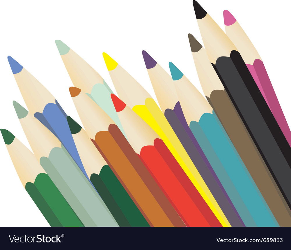 Crayons vector | Price: 1 Credit (USD $1)