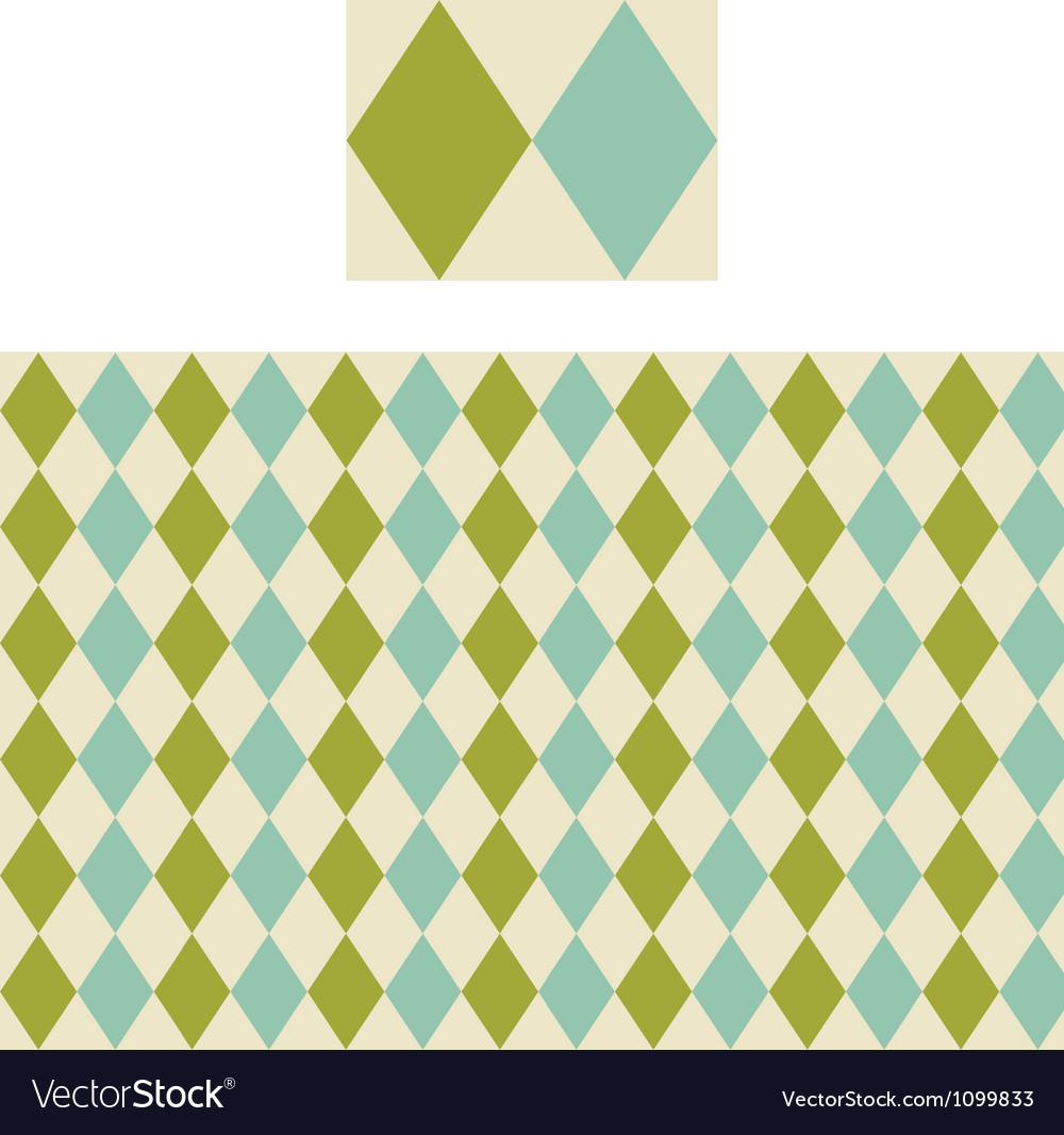 Diamond geometric pattern swatch vector | Price: 1 Credit (USD $1)
