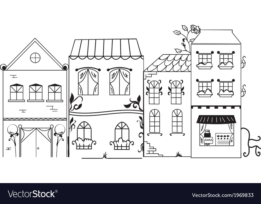 Fantasy town vector | Price: 1 Credit (USD $1)