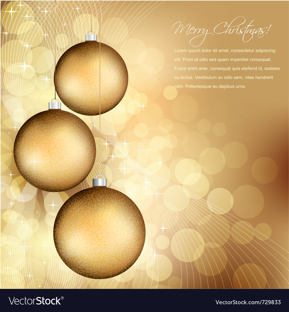 Golden christmas design vector | Price: 1 Credit (USD $1)