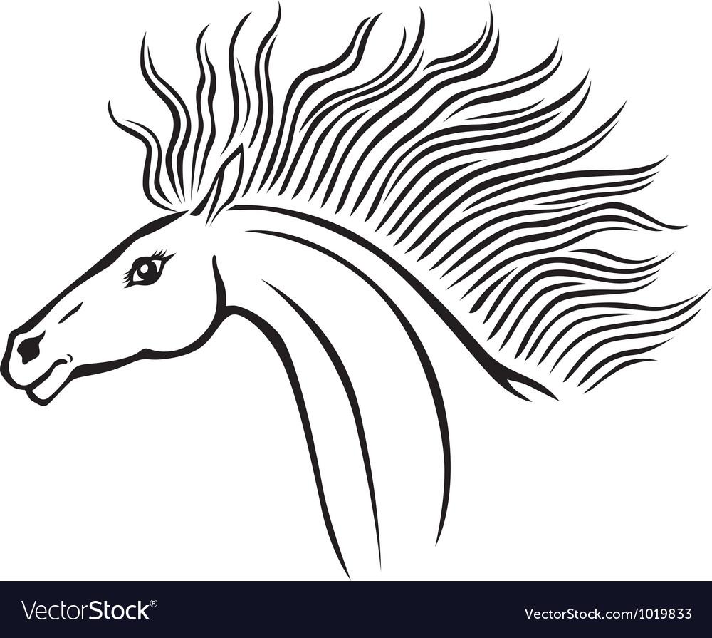 Horse head vector   Price: 1 Credit (USD $1)