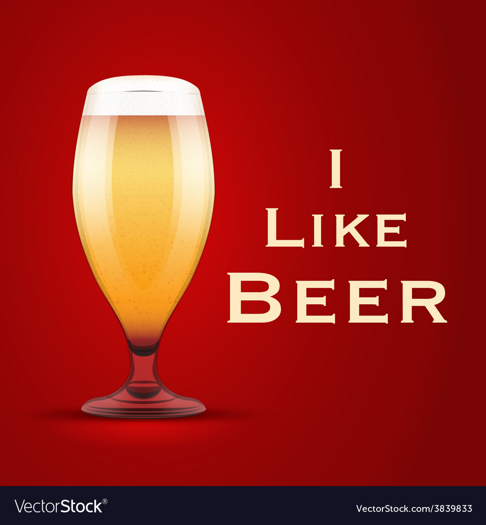I like beer vector | Price: 1 Credit (USD $1)