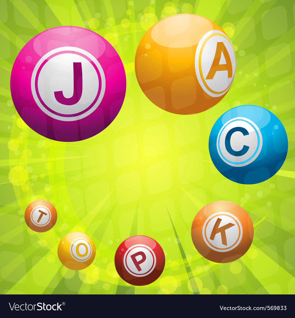 Lottery or bingo balls forming the word jackpot vector | Price: 1 Credit (USD $1)