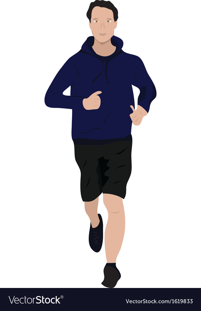 Man jogging vector | Price: 1 Credit (USD $1)
