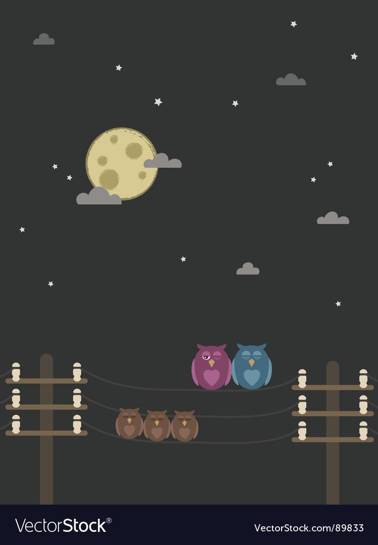 Night owls vector | Price: 1 Credit (USD $1)