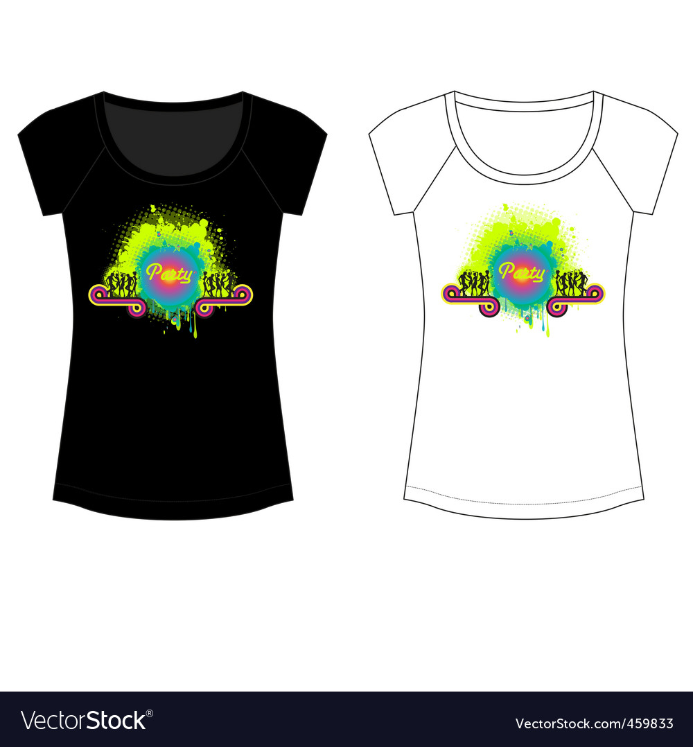 Party t shirt vector | Price: 1 Credit (USD $1)