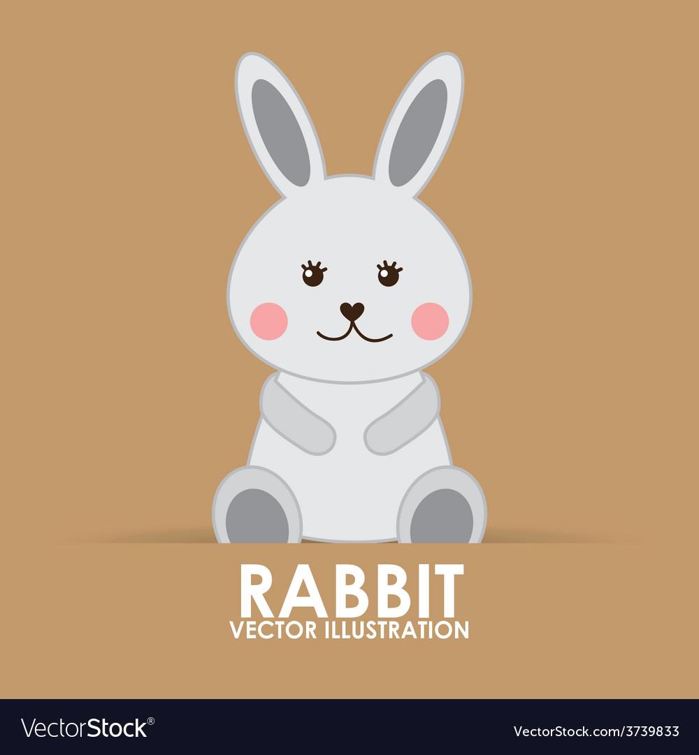 Rabbit cute vector | Price: 1 Credit (USD $1)
