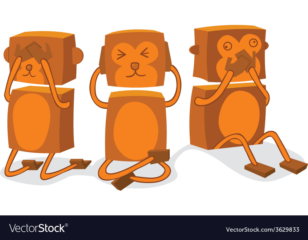 See hear speak no evil vector | Price: 1 Credit (USD $1)