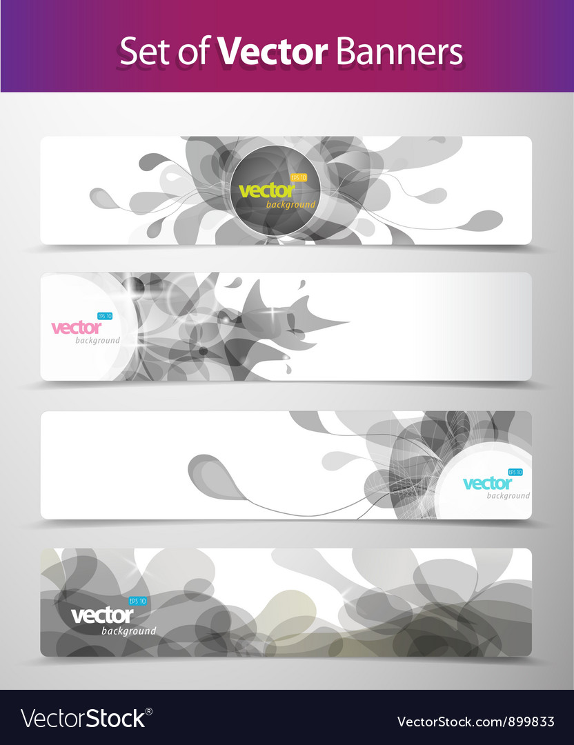Set of abstract web headers vector | Price: 1 Credit (USD $1)