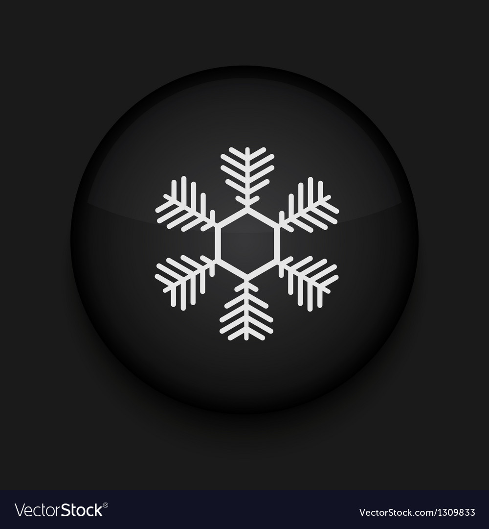 Snowflake icon eps10 easy to edit vector | Price: 1 Credit (USD $1)