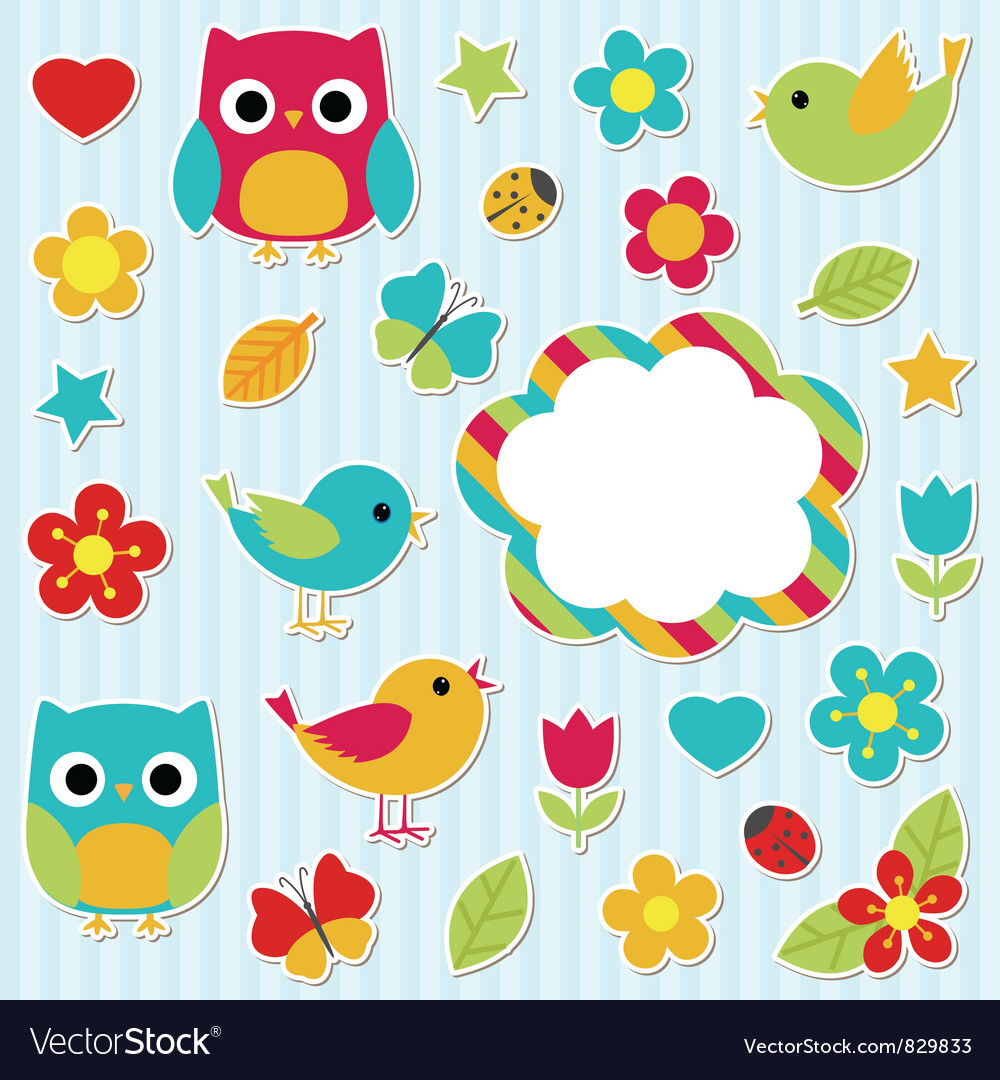 Stickers set vector | Price: 1 Credit (USD $1)