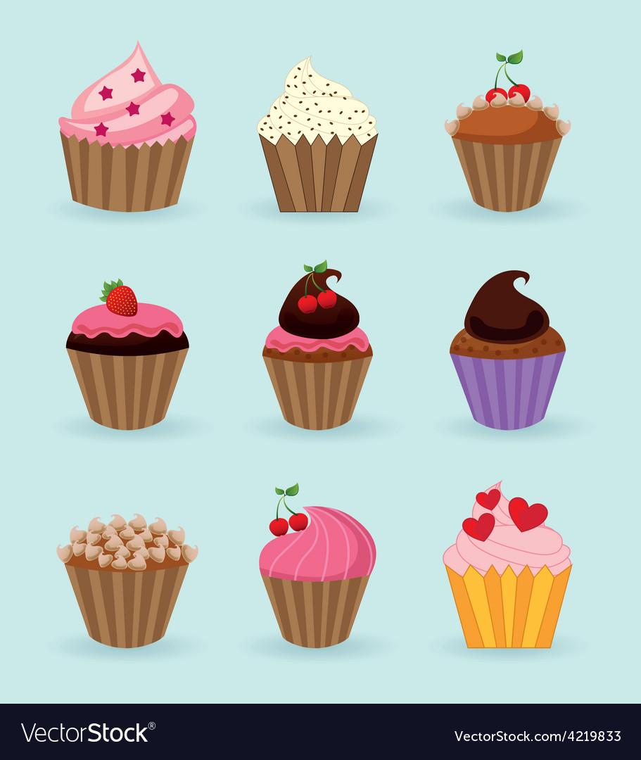 Sweet cupcake vector | Price: 1 Credit (USD $1)