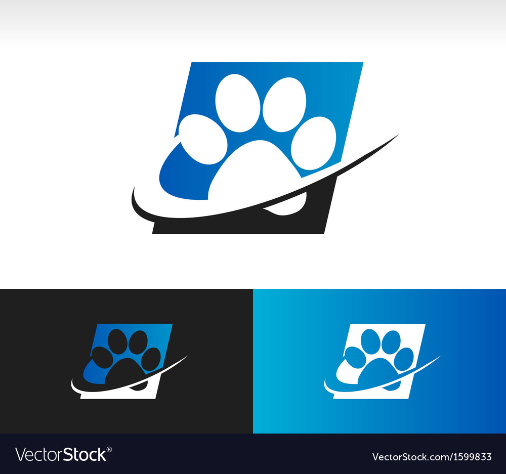 Swoosh animal paw icon vector | Price: 1 Credit (USD $1)