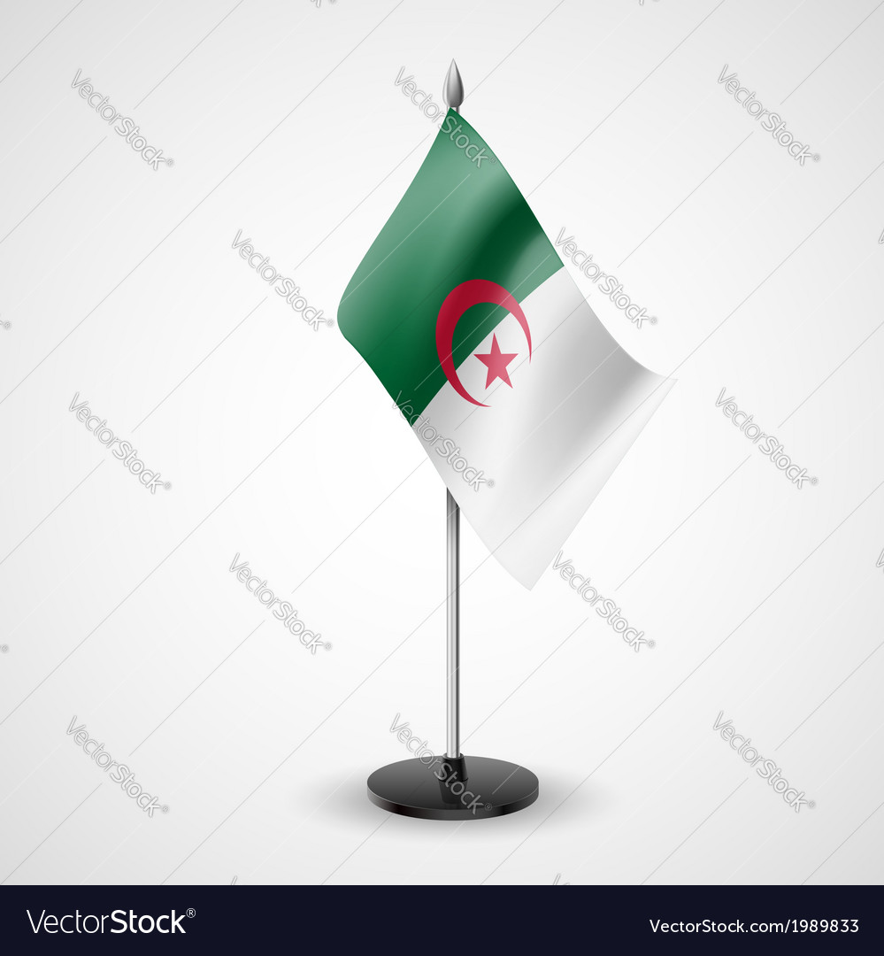 Table flag of algeria vector | Price: 1 Credit (USD $1)