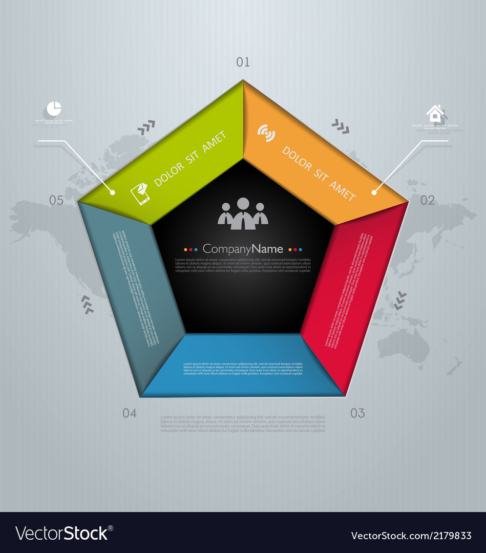 Template for your business presentation vector | Price: 1 Credit (USD $1)