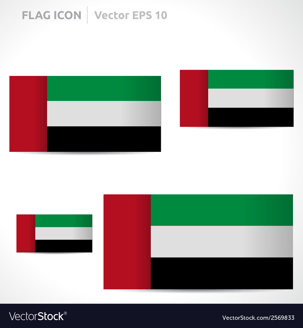 United arab emirates flag template vector | Price: 1 Credit (USD $1)