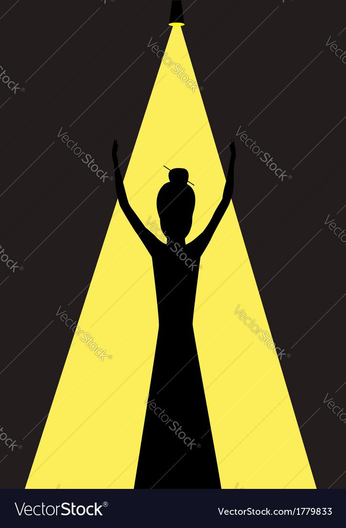 Woman opera singer vector | Price: 1 Credit (USD $1)