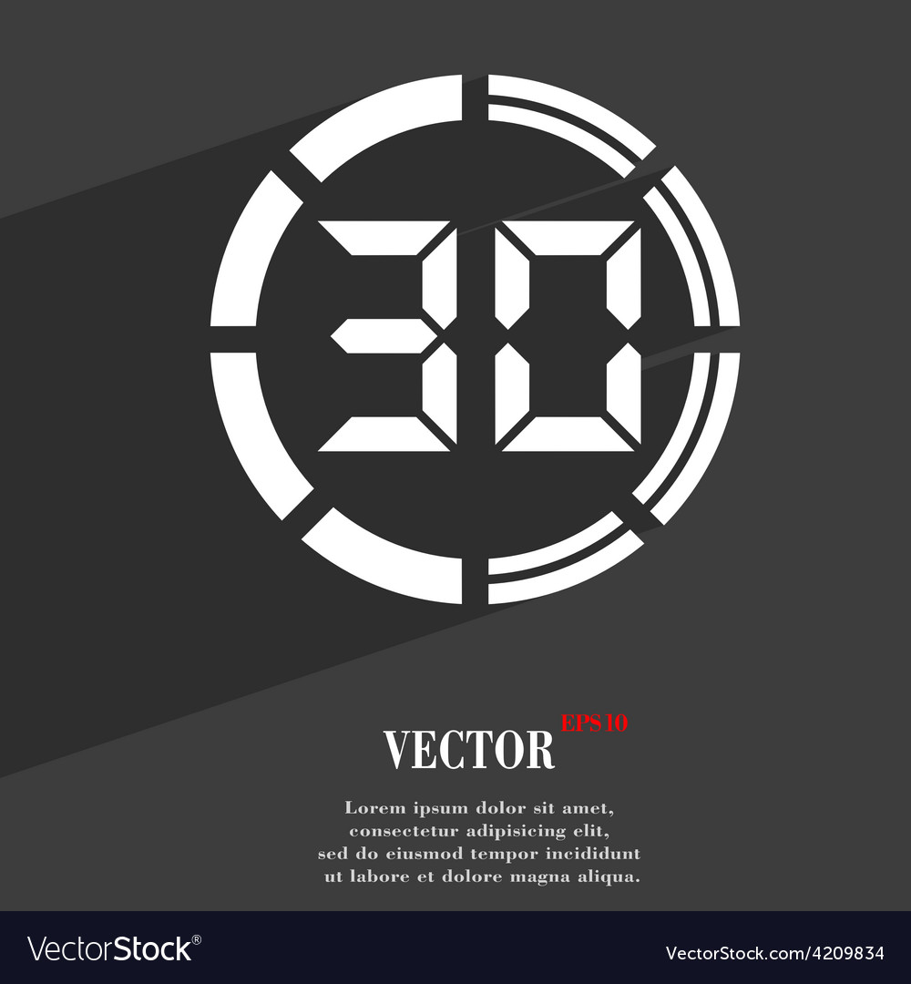 30 second stopwatch icon symbol flat modern web vector