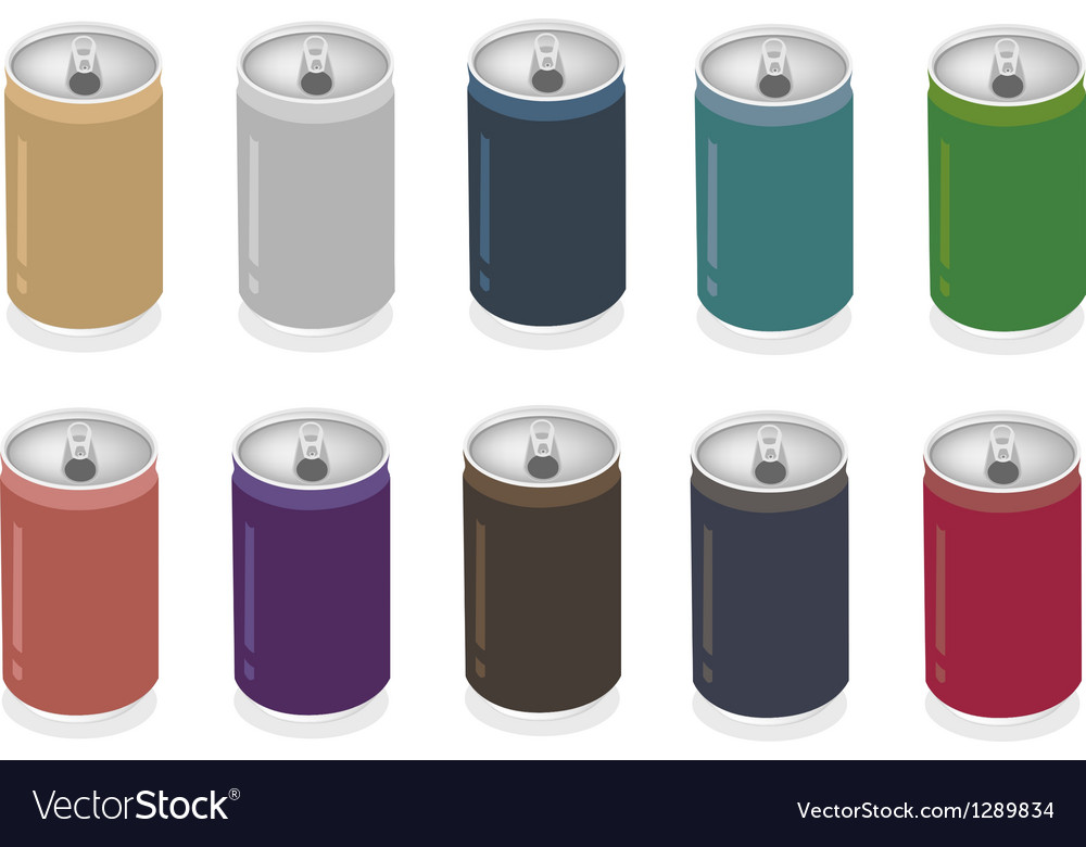 A colorful set of soda can vector | Price: 1 Credit (USD $1)