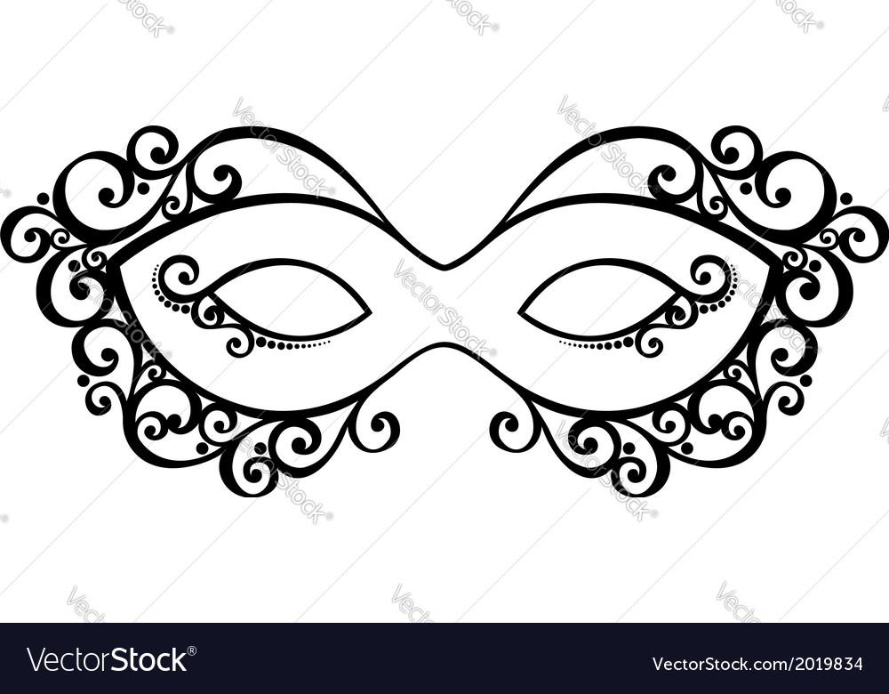 Beautiful masquerade mask vector | Price: 1 Credit (USD $1)