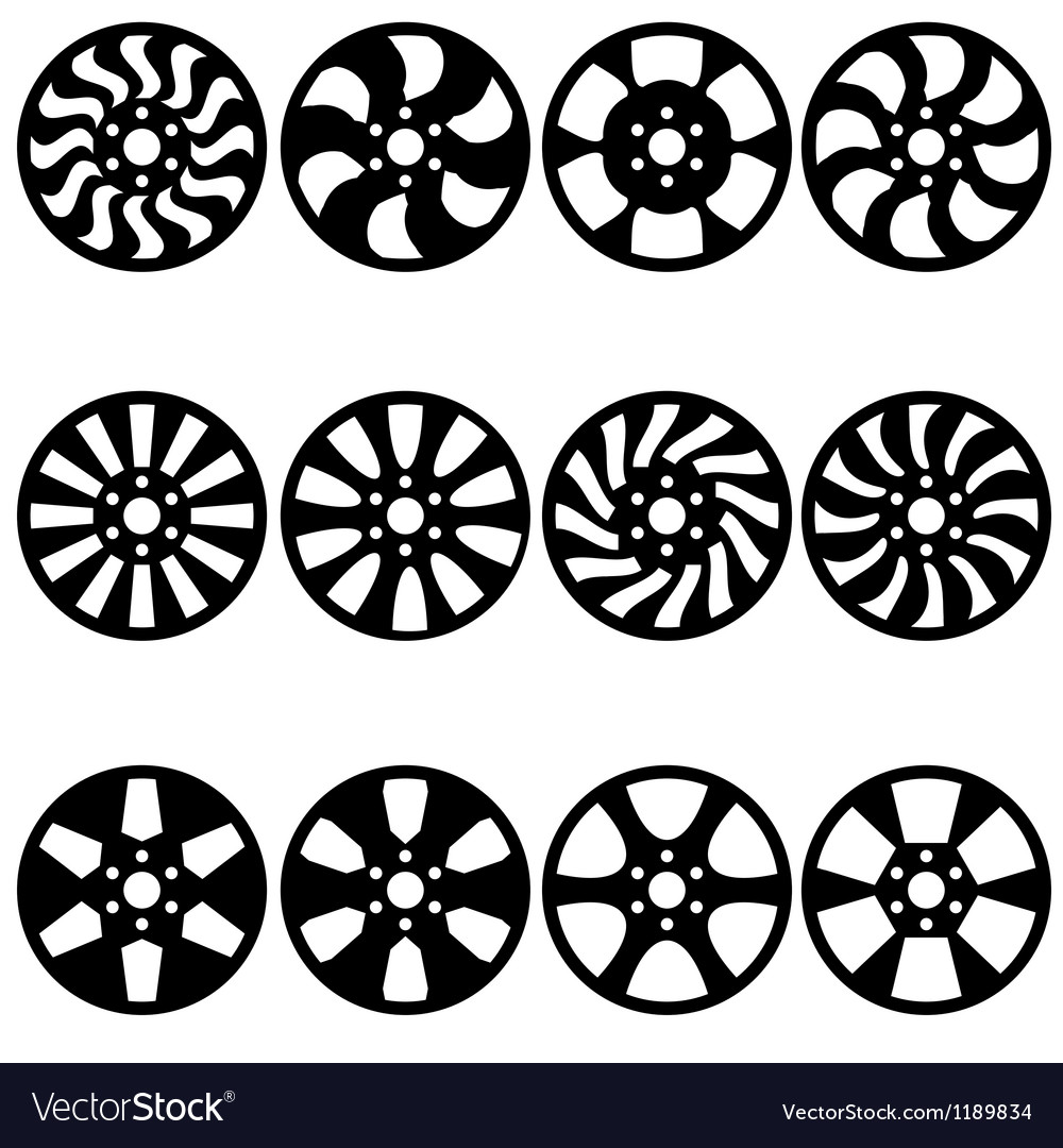 Car alloy wheels vector | Price: 1 Credit (USD $1)