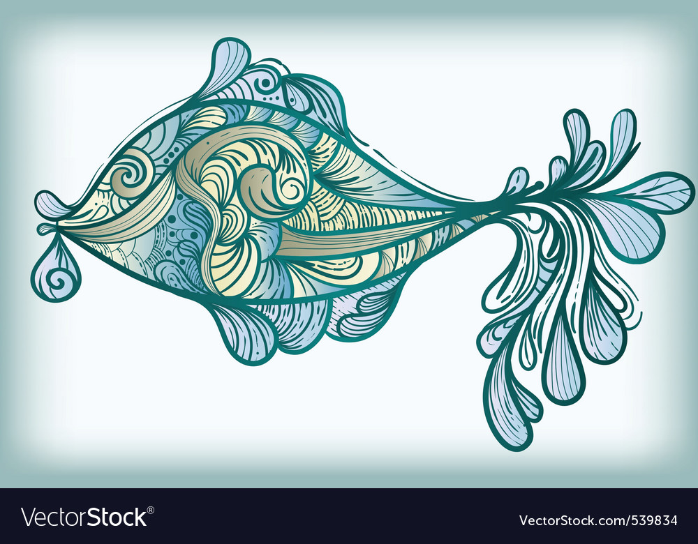 Fish drawing vector | Price: 1 Credit (USD $1)
